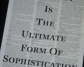 BOGO SALE Dictionary Art Print Dictionary Quote Print Vintage Dictionary Book Page Quote Simplicity