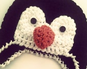 Crochet Baby Penguin Hat - Photography Prop - Made to Order