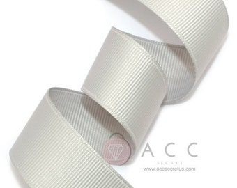 5Yards  Silver Solid Grosgrain Ribbon - 5mm(2/8''), 10mm(3/8''), 15mm(5/8''), 25mm(1''), and 40mm(1 1/2'')