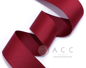 5Yards Burgundy Solid Grosgrain Ribbon - 5mm(2/8''), 10mm(3/8''), 15mm(5/8''), 25mm(1''), and 40mm(1 1/2'')
