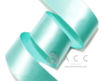 Mint Single Faced Satin Ribbon - 5mm(2/8''), 10mm(3/8''), 15mm(5/8''), 25mm(1''), 40mm(1 1/2''), and 50mm(2'')
