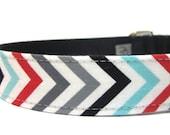 Dog Collar- Chevron Stripe Dog Collar