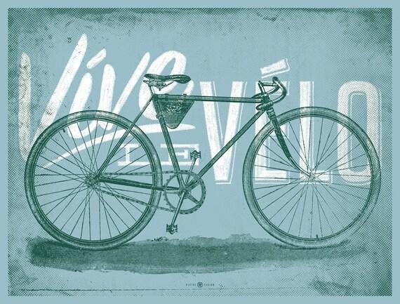 Vive Le Velo 2012 Bicycle Art Print