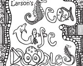 Abstract Doodles Coloring Book 2 (Sealife Doodles)