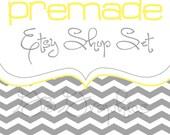 Etsy Shop Banner  and Avatar Set- The Rilie Design