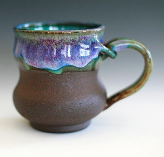 As seen on TV show Up All Night, Large Coffee Mug, Holds 16 oz, handmade ceramic cup, coffee cup