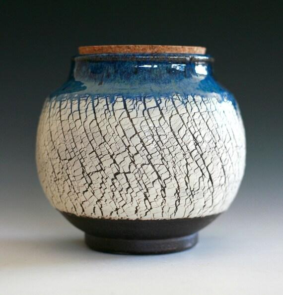 RESERVED FOR SABRINA, Ceramic jar with cork top