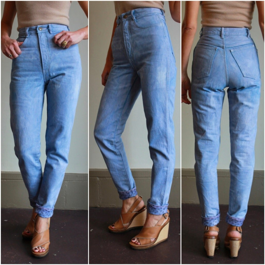 Vintage High Waisted Skinny Jeans - Xtellar Jeans