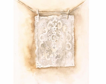 """Old Lace, Print of a Watercolor, 8""""x10"""""""