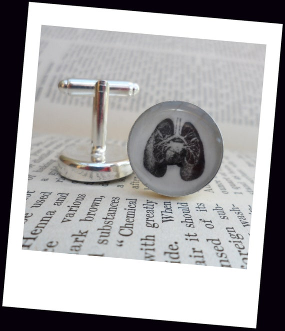 The lungs ....... Anatomy Cuff Links