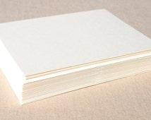 Blank Ivory Stationery Set with Matching Ivory Envelopes - Set of 20 Flat A2 Size Cards