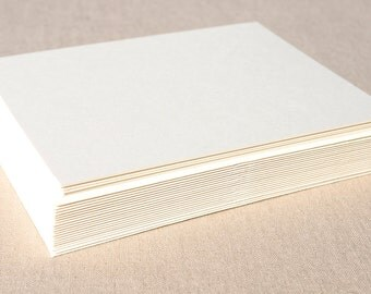 Blank Off-White Stationery Set with Matching Ivory Envelopes - Set of 20 Flat A6 Size Cards