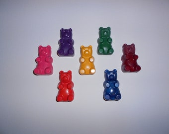 Gummy Bear Crayons Set of 7