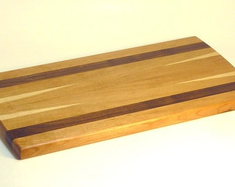 Large Cutting Board, Cherry with Walnut Stripes