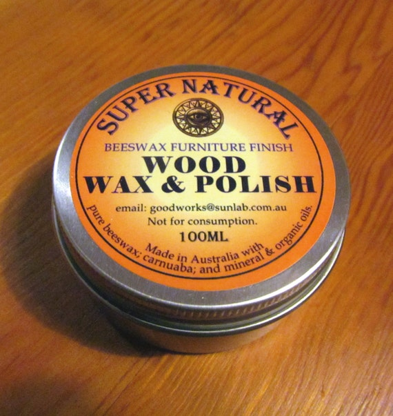 Furniture Wax Polish With Beeswax And Carnuaba Timber Wood