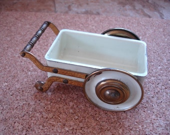 Small metal cart decoration