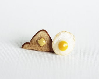 Polymer Clay Breakfast Dippin' Eggs And Toast Earrings
