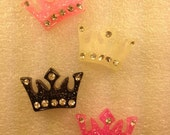 KaWaii Resin Flatback Cabochon 4 PiEcE CrOwN SeT..NeW CoLoRs..50% oFF CoUpOn: SALE50..USA SHIPPING