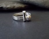DoT DaSh...sTeRLiNg SiLvEr pEbbLe AnD BaR RiNg