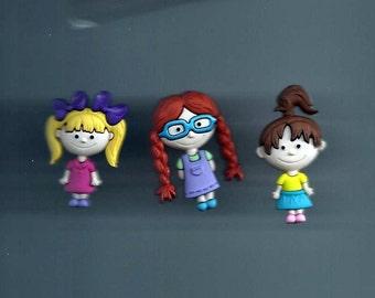 Best Friends Plastic Buttons/ Sewing supplies / DIY craft supplies / Novelty Buttons / Party Supplies / Kids craft supplies