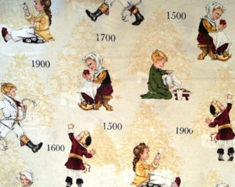 Children through the Years Cotton fabric/Sewing Craft Supplies/Apparel Fabric/Fabrics for Kids