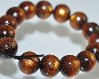 Listed @ 10% Off Sale Was 6.99---15 Pieces 7mm Sea Gem Natural GOLDEN CORAL Round Beads - E0620