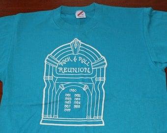 1989 Rock & Roll Reunion jukebox vintage Jerzees t-shirt L