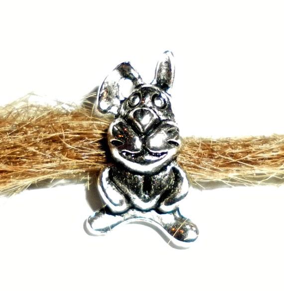 rabbit bunny european dread bead