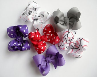 87 Choices - You Pick Set of 5 Twisted Boutique Bows - Boutique Bows - Toddler Hair Bows - Toddler Boutique Hair Bows - Twisted Boutique
