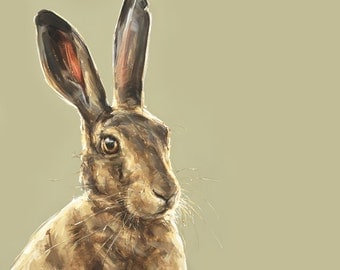 Hare painting print - Collectable Ltd. Ed. Fine art print