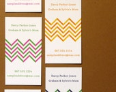 Modern Chevron - Mommy Card, Calling Card, Business Card - Completely Custom