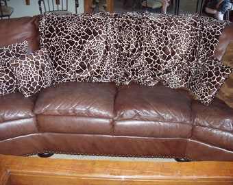 "Extra Long Blanket - ""Man Blanket"" - 8' long Blanket - Ski Leopard"