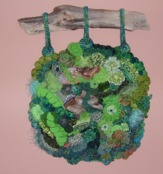 Crochet Wall Hanging : Freeform Knit Crochet Wall Hanging, An Afternoon on Oberg Mountain ...