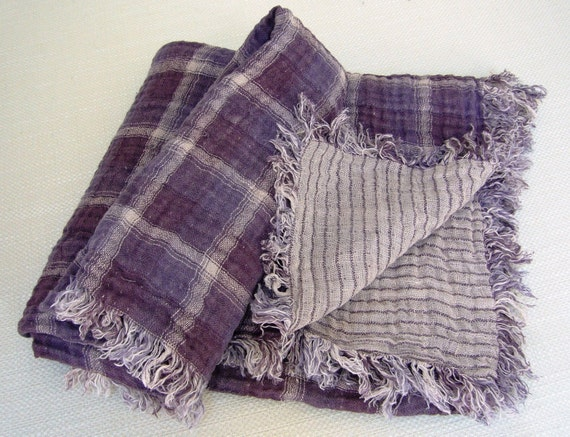 Kids Blanket  -Softness- pure linen blanket, baby and toddler, Eco-friendly, softened linen,