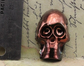 Handmade Raku Skull Bead or Pendant