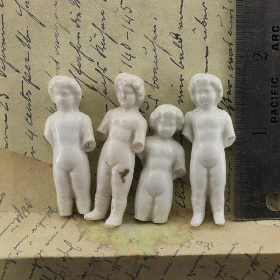 4 Vintage Frozen Charlotte German Doll Figure ceramic