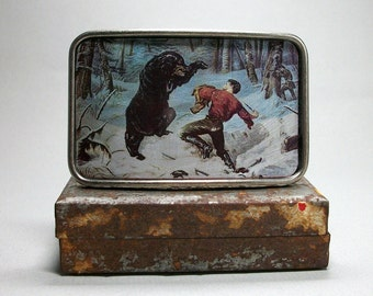 Belt Buckle Bear Attack Man Punching Bear Gift for Men