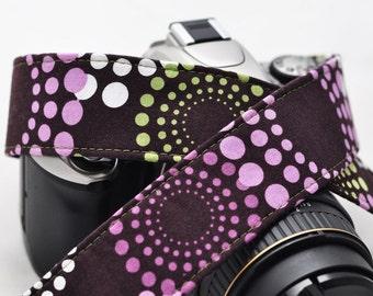 Camera Strap - Feeling Groovy - dSLR Camera Strap - Padded Camera Strap - Gift for Girlfriend - Gift for Photographer - Christmas Gift