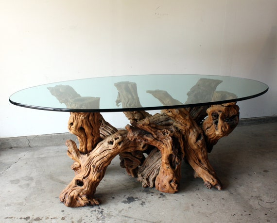 California 1970s Grapevine Vintage Dining Table