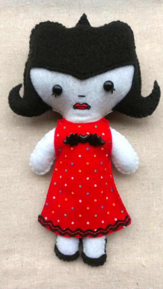Draculina Mini Plush Art Dolls