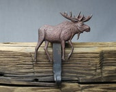 Moose Christmas Stocking Hanger,Holder-Forged Iron-Weighs 2 1/2 lbs.