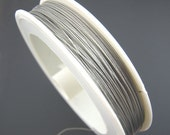 1 Roll Tiger Tail Beading Wire Silver Tone .45mm Thick - 225 Feet  Long - Z28