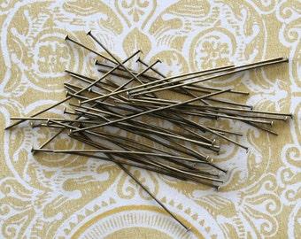 300 Head Pins 5cm Antique Bronze Terrific Quality - PIN16