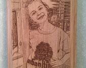 Photo Plaque Custom Laser Engraved 6x8 Alder Wood