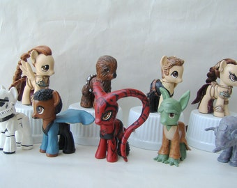My Little Pony STAR WARS Custom darth vader boba fett slave princess leia stormtrooper jedi sith luke skywalker empire han solo chewbacca