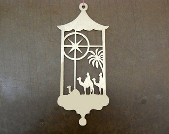 The Three Wise Men Christmas Handcut  Wood Ornament