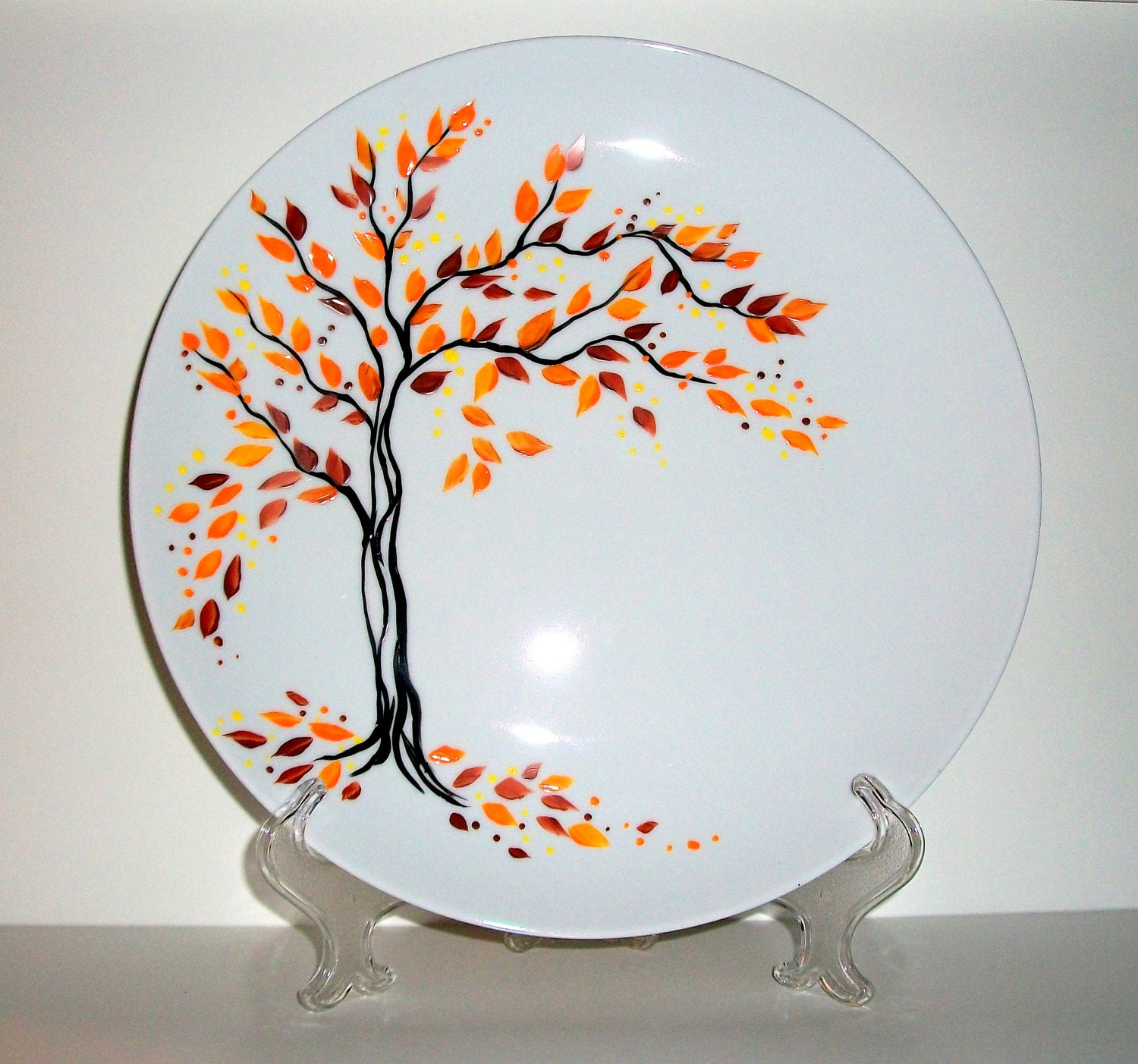Handpainted Wedding Plate Hand Painted Fall is in the Air