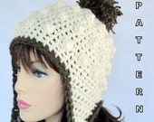 Crochet Ear Flap Hat PATTERN , Sugar Mountain Earflap Hat