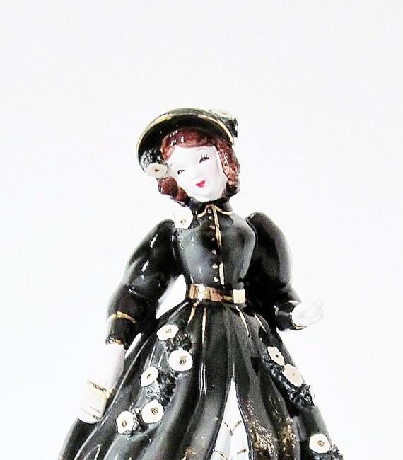Vintage Porcelain Lady Victorian Woman Figurine