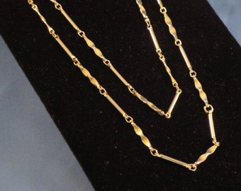 48 Inch Goldtone Necklace